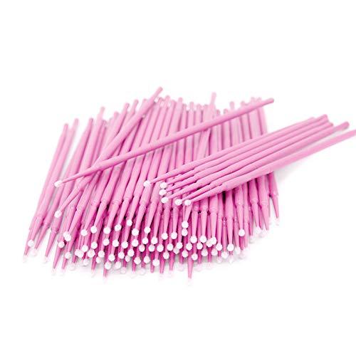 200 Stück Rosa Einweg Microbürsten, Wimpernbuerste für Wimpernverlängerung
