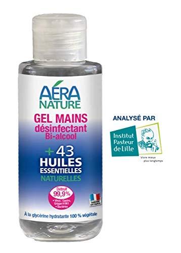 AERA NATURE: Gel para manos, Bactericida y Virucida, más del 96% natural, 250ml : Eliminar el virus de la gastroenteritis y el virus H1N1. Análisis realizados por el Institut Pasteur.