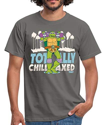 TMNT Turtles Donatello Mit Skateboard Männer T-Shirt, 4XL, Graphit