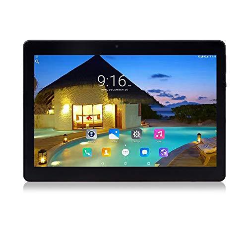 Tablet 10.1 Pollici Android 10.0,Quad-Core,4GB + 64GB,1280 * 800 FullHD IPS, 2MP+5MP Doppia Fotocamera,GPS, WiFi, Bluetooth (Metallic Negro)