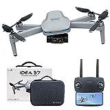 le-idea 37 Drone Quadcopter GPS Ultraleggero e Pieghevole, 2 Assi Gimbal con Telecamera EIS 4K, 25 Minuti di Volo, Foto 8 MP, 2.5 HD Trasmissione Video, Droni Professionale 5GHz per Principianti