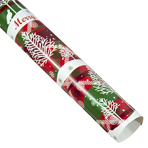 Fasclot Christmas Wrapping Paper Gift Present Tree Santa Wrap Decorative Xmas Party Roll Home & Garden Home Decor