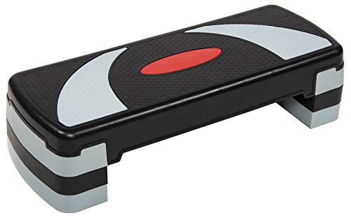 BalanceFrom Adjustable Workout Aerobic Stepper Step Platform Trainer 4 Removable Raisers Included