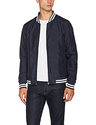 Urban Classics Herren und Jungen Light College Blouson, leichte Jacke für Frühling und Sommer, Übergangsjacke, Collegejacke,blau, S