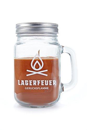 HEITMANN DECO Duftkerze im Glas mit Deckel - ideal für drinnen und draußen - Lagerfeuer