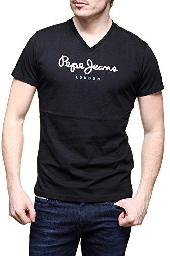 Pepe Jeans Eggo V PM501389 Camiseta, Negro (Black 999), Medium para Hombre
