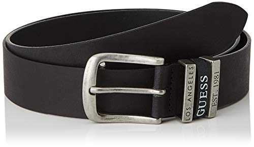 Guess Triple Loop Belt Cintura, Nero, XL Uomo