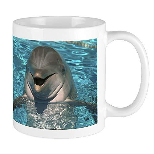 Hiya ! Happy Dolphin Coffee Mug,White