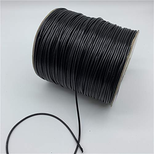 NO LOGO HHTC De Joyas y Componentes, Hilos de Coser, 0,5 mm 0,8 mm 1,5 mm 1 mm 2 mm Cordón Negro algodón Encerado Hilo Encerado Cable Correa Hilo Collar de Cuerda for la joyería