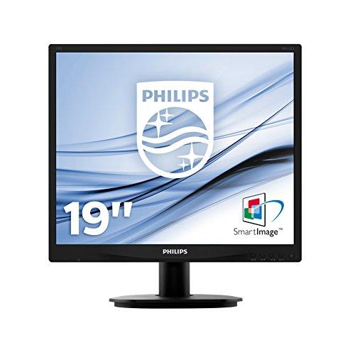 Philips Monitors 19S4QAB - 19 Zoll SXGA Monitor (1280x1024, 60 Hz, VGA, DVI) schwarz