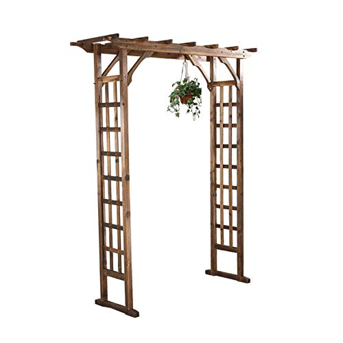 HLMBQ Garden Arch Solid Wood Pergola Trellis Plants Support Outdoor Archway Weather Resistant Rose Arbor for Photo Booth Decorations 180x50x210cm/71x20x83in
