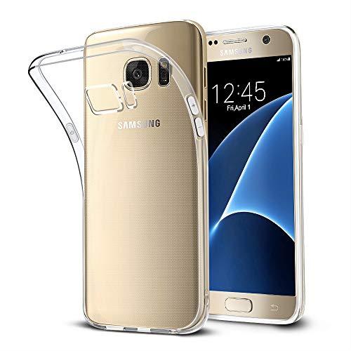 wsky Handyhülle Kompatibel mit Samsung Galaxy S7 Hülle Transparent, Ultra Dünn Silikon Handyhülle, Anti-Gelb Durchsichtige Case, Crystal Clear Schutzhülle für Samsung Galaxy S7
