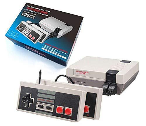 JHKGY Classic Mini Game Console Ingebouwde 620 Game,Twee-Key En Vier-Key Video Game Console, 8-Bit En Twee Controle Handvatten Breng U Gelukkig Kindertijd herinneringen (HDMI-kabel)
