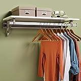Arrange A Space Arrrange a Space RCMSY Best 36' Single Shelf/Hang Rod Kit White Closet System