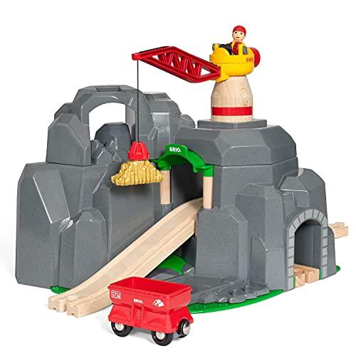 BRIO 53.033.889 Túnel parte y accesorio de juguet ferroviario - Partes y accesorios de juguetes ferroviarios (Túnel, BRIO, 3 año(s), Gris, 450 mm, 270 mm) , color/modelo surtido