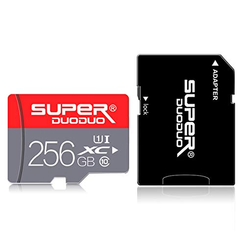 256GB Micro SD Card with Adapter, TF Memory Card/MicroSD Card(Class 10 High Speed), SD Memory Card for Camera Computer Phone Tablet Android Phone Mac Surveillance Tachograph Drone Game Console (Best Memory Card For Android Phone)