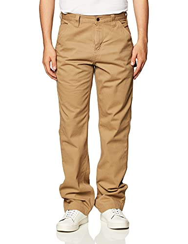 Carhartt Men's Relaxed Fit Washed Twill Dungaree Pant, Dark Khaki, 32W X 30L