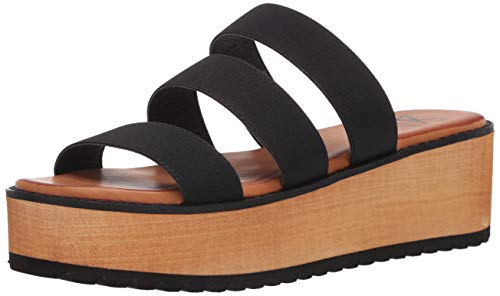 Dirty Laundry by Chinese Laundry Women's Wedge Sandal, Black, 7
