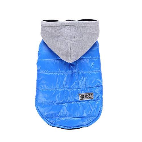 Xinger Winter hond jas jas warme kleding voor kleine honden ChihuahuaFranse Bulldog kleding Puppy Puppy vacht kleding kleding, blauw, L