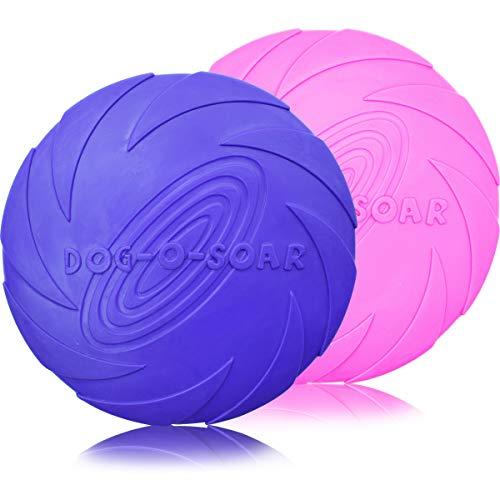 ZSWQ Frisbee - Frisbee Perro Juguete de Goma para Mascotas Frisbee Juguete de Perro Interactivos Juguetes de Entrenamiento para Mascotas