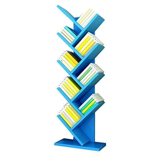 Zxb-shop Estantería de Libros de Estante en Forma de árbol de Nueve Capas Estante de exhibición de CD Estante de Madera Práctico Estante de Almacenamiento en casa (Color : A)