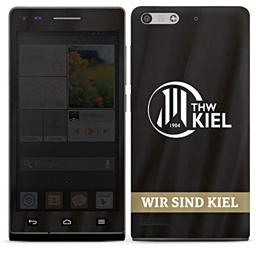 DeinDesign Folie kompatibel mit Huawei Ascend P7 Mini Aufkleber Skin aus Vinyl-Folie Fanartikel THW Kiel Handball