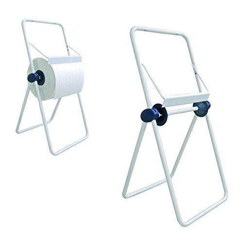 Portarotolo distributore dispenser per bobina carta industriale a cavalletto da pavimento