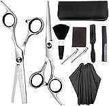 DZCGTP Herramientas de peluquería Tijeras de peluquería Tijeras de Dientes Tijeras Planas Conjunto de combinación para el hogar