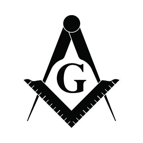 RDW Freemasonry Emblem Sticker - Decal - Die Cut - Freemason Masonic - Matte Black 4.23' x 5.00'