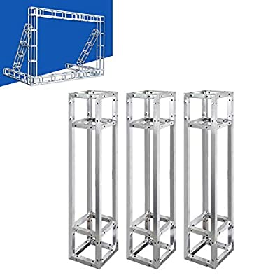 DJ Lighting Stand Pack of 3 Sturdy Square Frame DJ Truss Stand 100 * 20 * 20 cm Tent Frame Photography Lights Stand Lighting Truss Bar Lighting Stand DJ Lighting Stand Stage Outdoor Indoor
