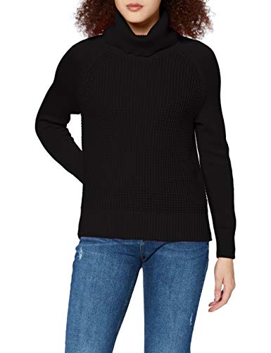 edc by ESPRIT Damen 100CC1I304 Pullover, 001/BLACK, M