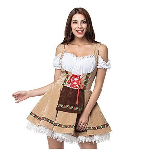 NISOWE Disfraz de maz para mujer, Halloween, Oktoberfest, escultura, escenario, cosplay, disfraz de maz, b, XXL