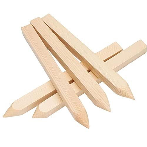 Valla Valla estacas de madera jardín publicar estacas de madera tratada yarda cuadrada señaló Pilas 6PCS, jardinería Accesorios
