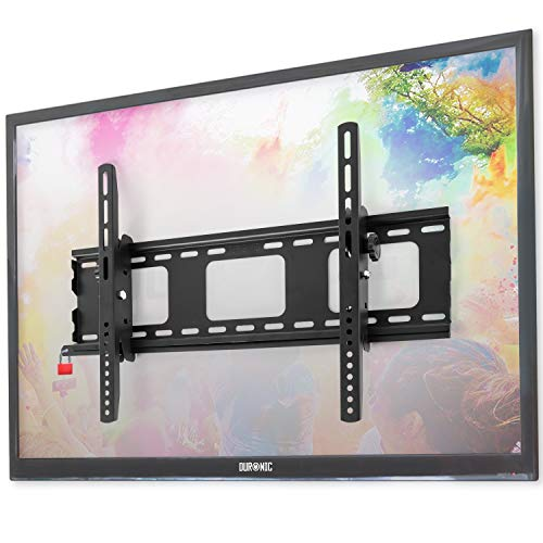 Duronic tvb103 m Super Heavy Duty Premium abschließbar schwarz universal 83,8 cm-65 LCD/Plasma/LED/3D/4 K TV Wandhalterung Neigung mit [Sicherheit Locking Bar] – Max VESA 600 x 400