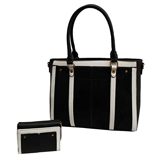 Womens Multi Pocket Casual Topa handle Bag Girls Ladies Office College shoulder Bag with Long straps