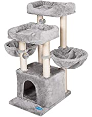 Hey-brother wielopoziomowy domek dla kota, mebel z sizalowymi drapakami dla kociaków, koty i zwierzęta domowe, MPJ006