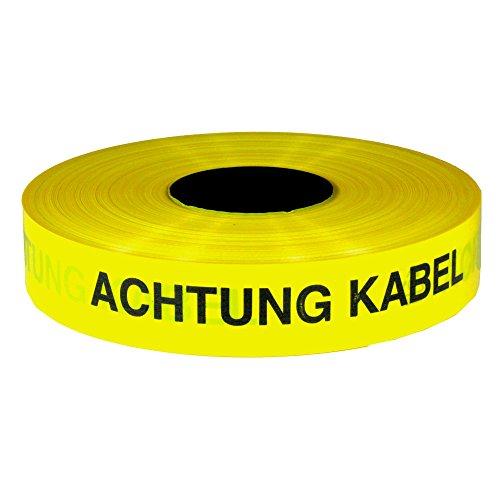 Trassenwarnband 'Achtung Kabel' / Rolle 40 mm x 250 m