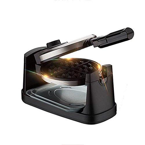 LDFN Automatischer Waffeleisen Doppelseitiges Backen Dreheisen 180 ° Mit Antihaft-beschichteten Kochplatten 950W,Black-L42.0*W20.0*H16.0cm