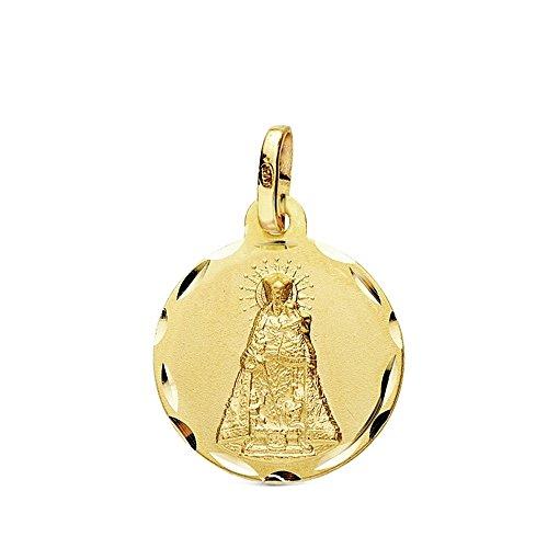 Medalla Oro 18K Virgen Desamparados 16mm. Tallada [Ab3428Gr] - Personalizable - Grabación Incluida En El Precio