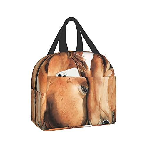 mengmeng Un caballo de simpatía bolsa de almuerzo aislada bolsa de almuerzo para mujer bolsa enfriadora a prueba de fugas caja de almuerzo para hombres niñas niños al aire libre picnic trabajo