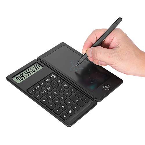 Calcolatrice LCD Blocco note Calcolatrice display a 12 cifre per disegnare Blocchi promemoria Tavole di pianificazione Strumenti per ufficio scolastico (batteria non inclusa)