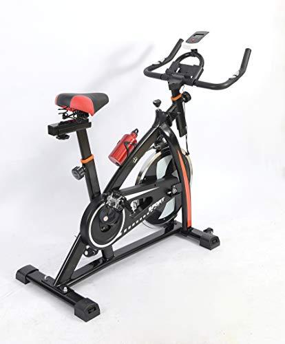 Sport 2020 – Spinning-Fahrrad für Indoor-Training, Heimtrainer für Fitness- und Cardio-Training zu Hause und im Fitnessstudio, mit LED-Monitor, inklusive Wasserflasche