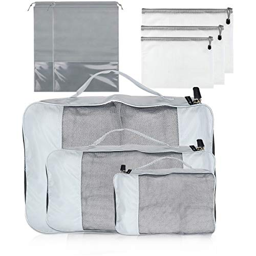 Abimars Packing Cubes for Suitcase, 8 Pcs Suitcase Organiser Bags, Suitcase Travel Organiser Set