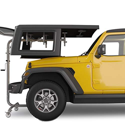 RollnJack Hard Top Removal Lift for Jeeps: 2007 -to- Present Jeeps (JK & JL), 2 and 4-Door Jeeps, Lifted Jeeps. Quick and Easy Assembly! Take Off Your Top in a Matter of Minutes