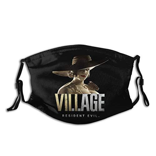 Resident Evil Village Lady Dimitrescu Adults Mouth Mask with Washable Reusable Adjustable Face Mask Black