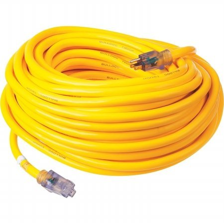 Prime Wire & Cable LT511935 100-Foot 10/3 SJTOW Bulldog Tough Ultra Heavy Duty Extension Cord with Prime Light Indicator Light, Yellow by Prime Wire & Cable