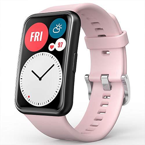 TUSITA Cinturino Compatibile con Huawei Watch Fit - Braccialetto di Ricambio in Silicone - Accessori per smartwatch
