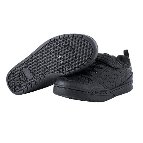 O'NEAL   Mountainbike-Schuhe   MTB Downhill Freeride   Vegan   SPD-Pedalplatten-kompatible Sohle, haltbares und leichtes PU, Belüftungsöffnungen   Flow SPD Shoe   Erwachsene   Schwarz   Größe 45
