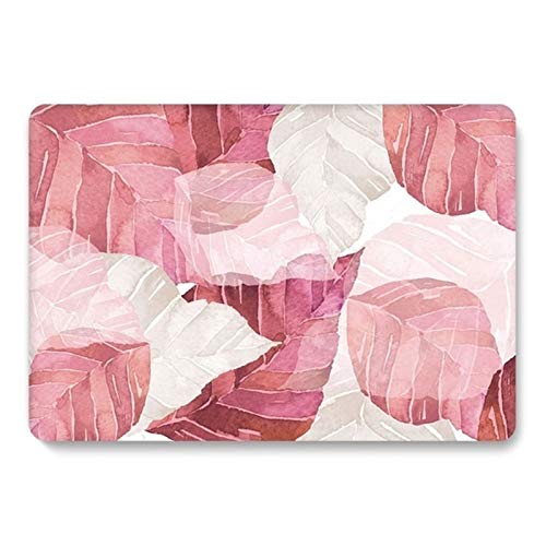 Yhuisen Floral Case for Huawei Matebook D14 2020 Leaf Matte Clear Hard Laptop Cover for Matebook D15 2020 Case Accessories (Color : Leaf 5, Size : For Matebook D15)