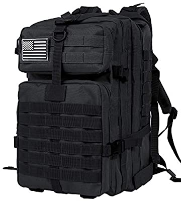 Leaper Military Tactical Backpacks 3 Day Assault Pack Hiking Backpack 42L Black